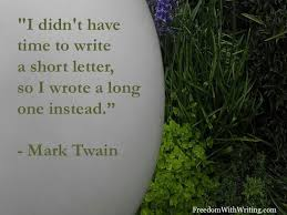 Mark Twain on length