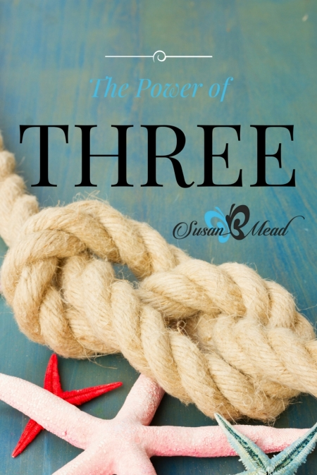 The power of three. Even God exists as the Trinity, in union and community with the Father God, Jesus Christ the Son of God, and the Holy Spirit of God.